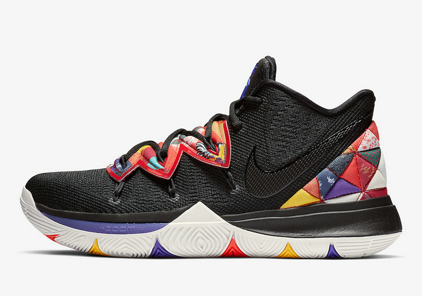Where To Buy Cheap Nike Kyrie 5 Chinese New Year Black Multi AO2919-010
