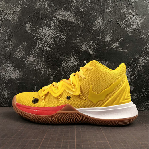 Where To Buy Cheap Nike Kyrie 5 EP Yellow Red White Jaune Rouge Blanc AO2919-700