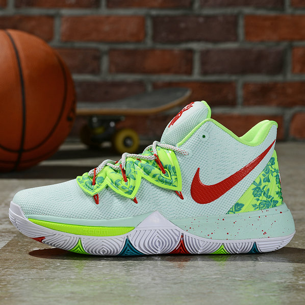 Where To Buy Cheap Nike Kyrie 5 Irving Light Green Gym Red