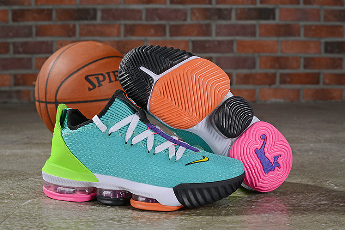 Where To Buy Cheap Nike LeBron 16 Low Hyper Jade Total Orange CI2668-301