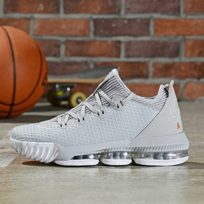 Where To Buy Cheap Nike LeBron 16 Low Wolf Grey University Red CI2668-003