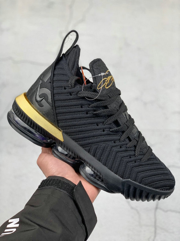 Where To Buy Cheap Nike LeBron XVI EP Black Metallic Gold Noir Or Metallique BQ5970-007
