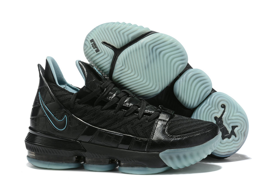 Where To Buy Cheap Nike Lebron XVI SB Black Water Blue Noir Water Bleu AO2588-405
