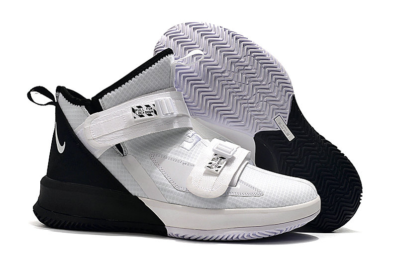 Where To Buy Cheap Nike Lebrons Soldier 13 White Black