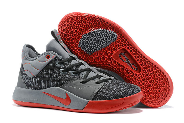 Where To Buy Cheap Nike PG 3 Grey Rouge Red Black