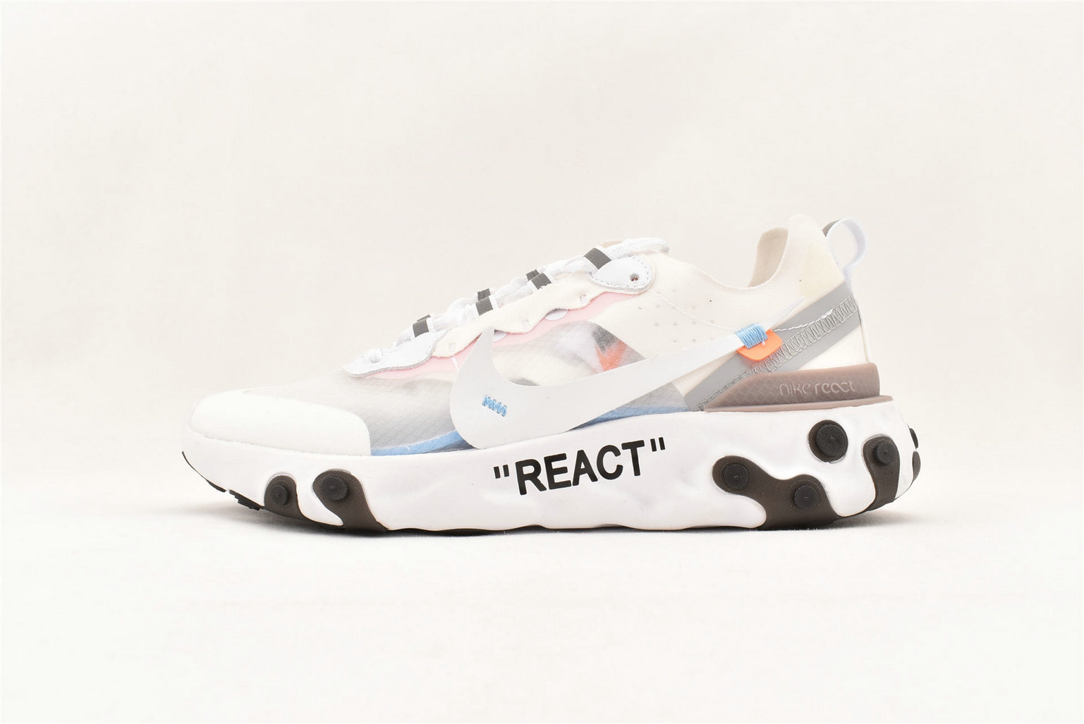 Where To Buy Cheap Nike React Element 87 Undercover White Cone Ice Blue AQ0068-100