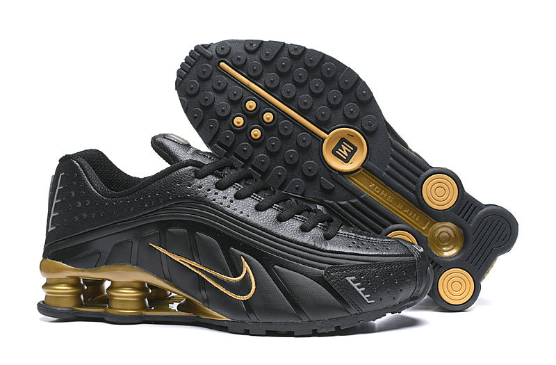 Where To Buy Cheap Nike Shox R4 Black Golden