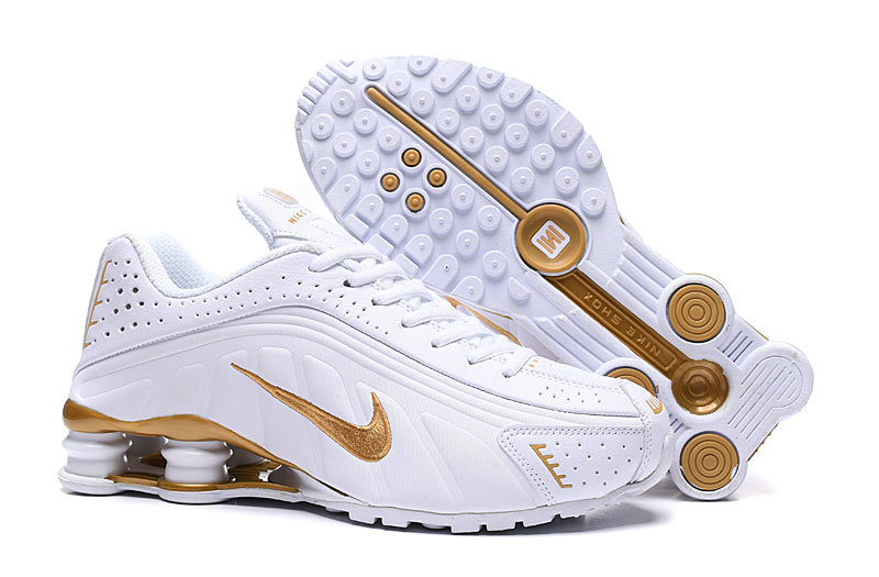 Where To Buy Cheap Nike Shox R4 Gold White