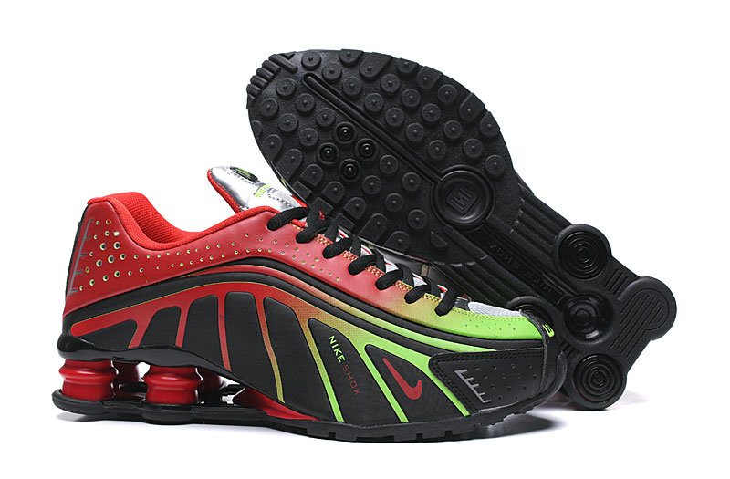Where To Buy Cheap Nike Shox R4 Green Red Black