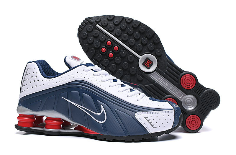 Where To Buy Cheap Nike Shox R4 Navy Blue White