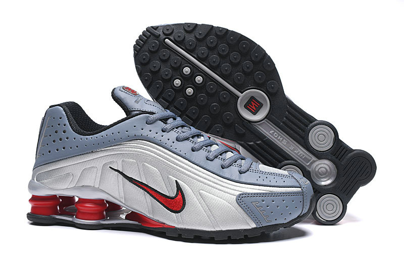 Where To Buy Cheap Nike Shox R4 Silver White Red Grey