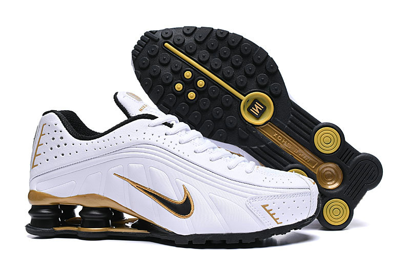 Where To Buy Cheap Nike Shox R4 White Gold Black