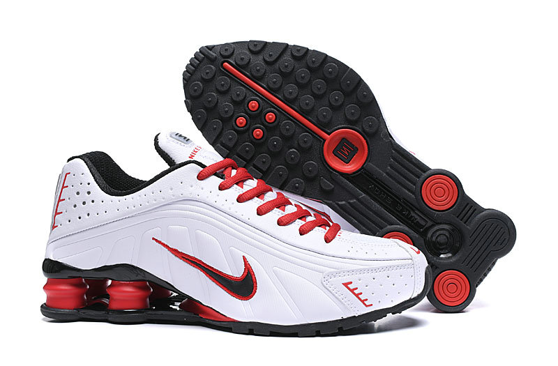 Where To Buy Cheap Nike Shox R4 White Red Black