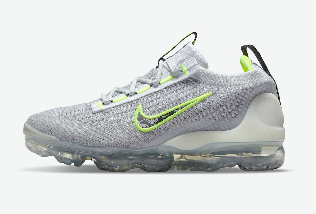 Where To Buy Wholesale Cheap Nike Vapormax Flyknit 2021 Logo Pack Grey And Volt DH4085-001