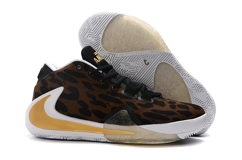Where To Buy Cheap Nike Zoom Freak 1 Gold Brown Black White