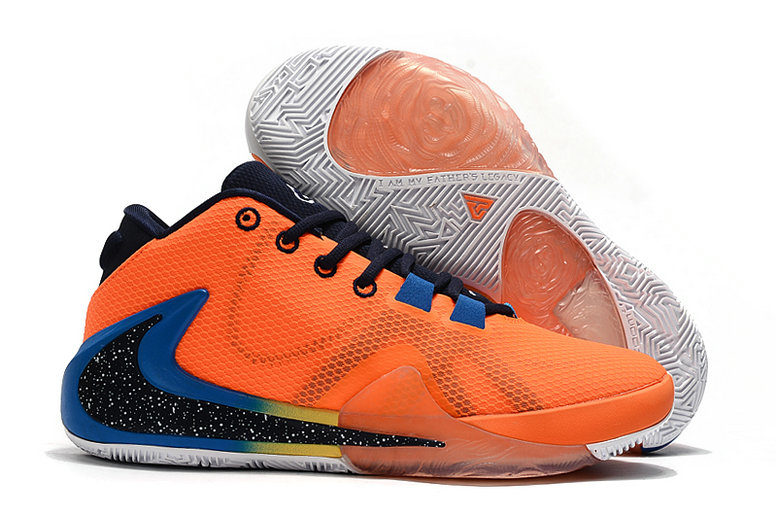 Where To Buy Cheap Nike Zoom Freak 1 Total Orange Black Blue Gold