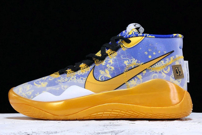 Where To Buy Cheap Nike Zoom KD 12 EP Fashion Royal Blue Gold Bleu AR4230-400