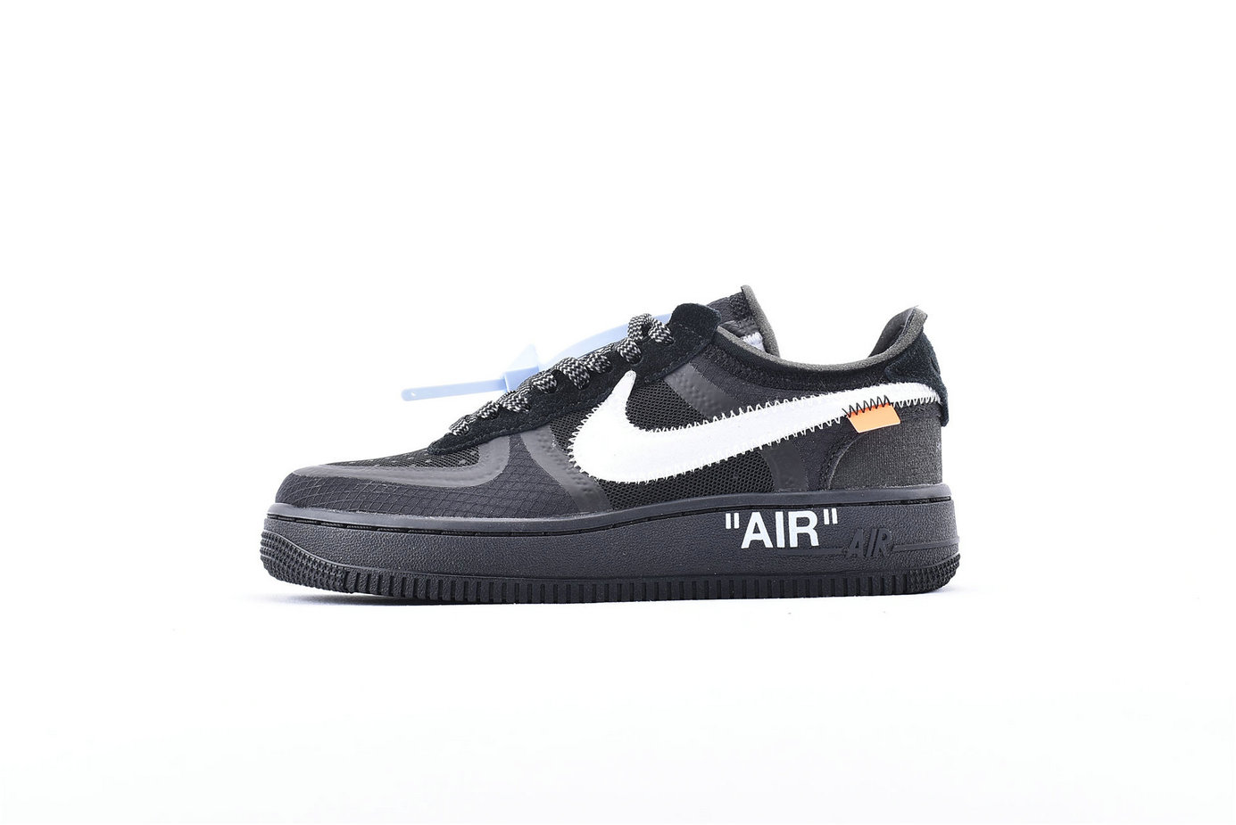 Where To Buy Cheap Off-White x Nike Air Force 1 Low Black-White-Cone-Black AO4606-001