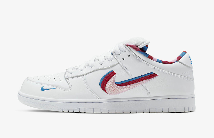 Where To Buy Cheap Parra x Nike SB Dunk Low White Pink Rose-Gym Red CN4504-100