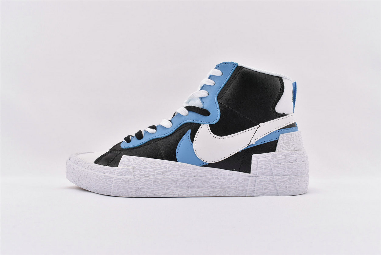 Where To Buy Sacai x Nike Blazer Mid Blue Yellow BV0072-700