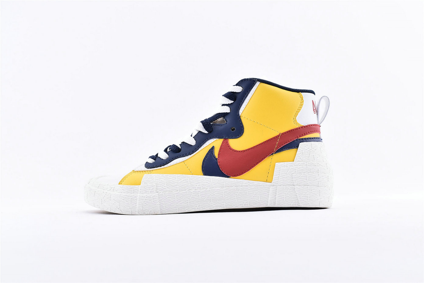 Where To Buy Sacai x Nike Blazer Mid Yellow Blue BV0072-700
