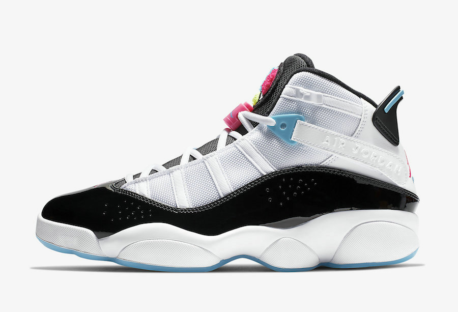 Where To Buy Womens 2020 Wholesale Cheap Nike Air Jordan 6 Rings White Hyper Pink-Light Blue Fury-Black CK0017-100
