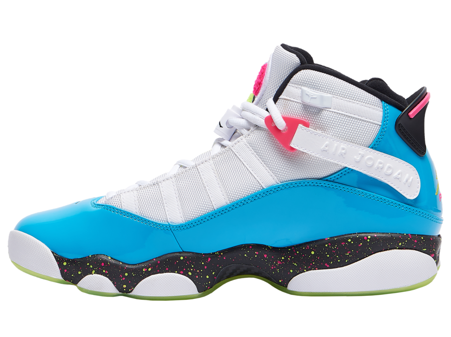 Where To Buy Womens 2020 Wholesale Cheap Nike Air Jordan 6 Rings White Light Blue Fury-Cyber CK0018-001