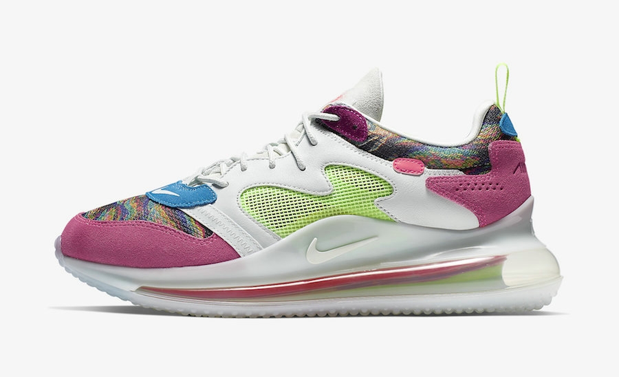 Where To Buy Wholesale Womens Cheap Nike Air Max 720 OBJ Multi-Color Hyper Pink-Lime Blast CK2531-900