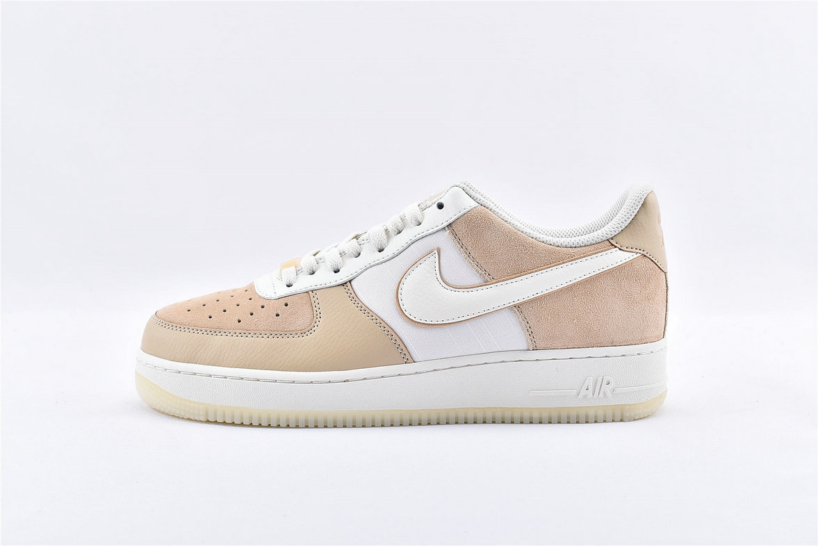Where To Buy Womens Nike Air Force 1 07 LV8 Beige White AO2425-200