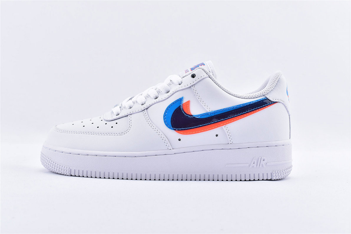 Where To Buy Womens Nike Air Force 1 White 3D Glasses Double Swoosh BV2551-100