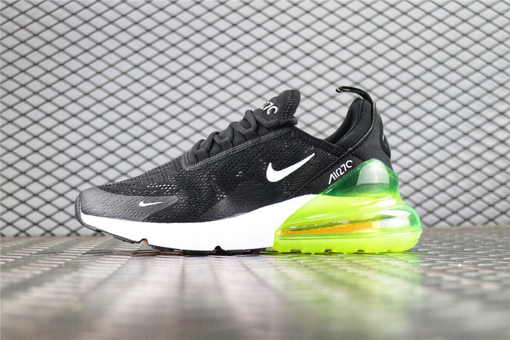 Where To Buy Womens Nike Air Max 270 Flyknit Black White Orange Green AH8050-115
