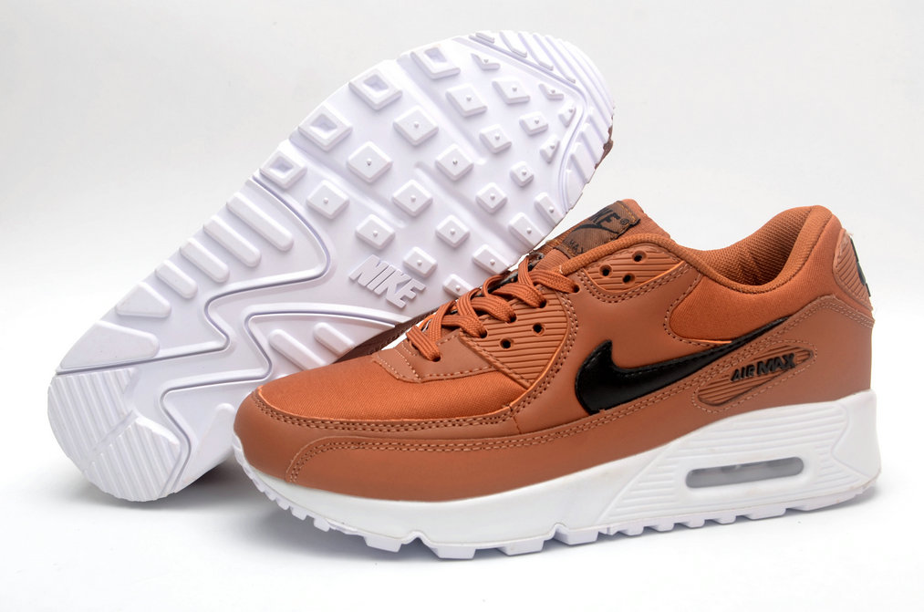 Where To Buy Womens Nike Air Maxs 90 Bison-Baroque Brown Black White