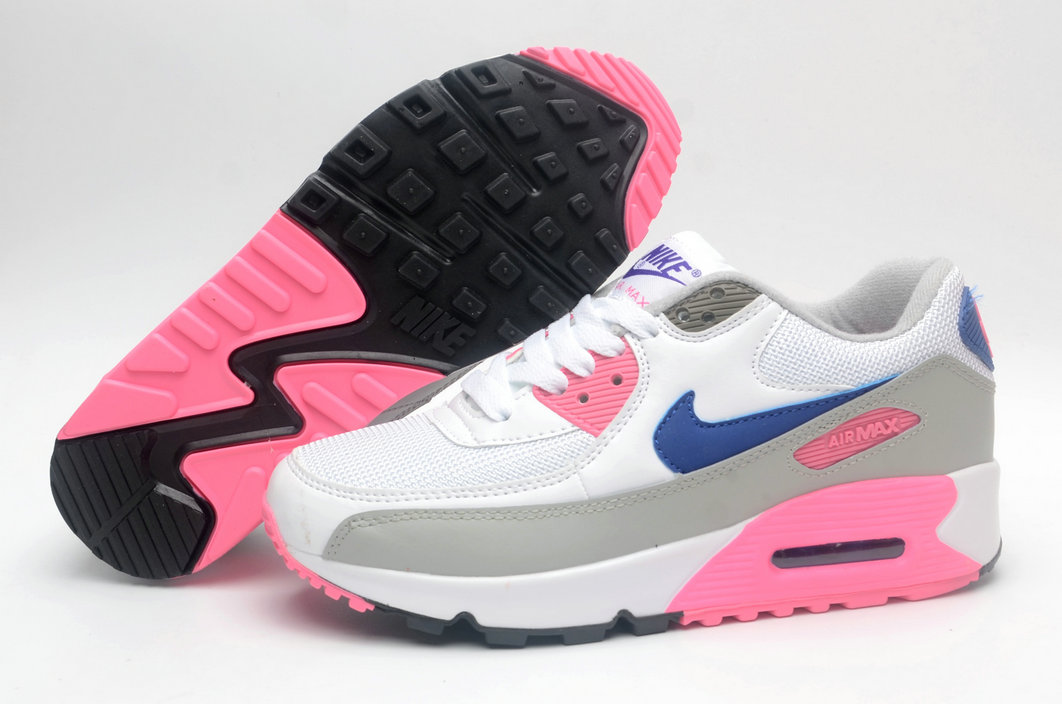 Where To Buy Womens Nike Air Maxs 90 Classic White Concord Pink Grey 313098-141