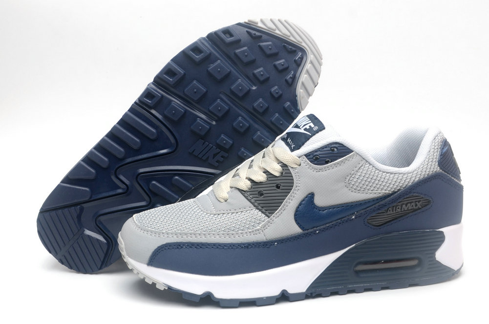 Where To Buy Womens Nike Air Maxs 90 Cold Grey Royal Blue White