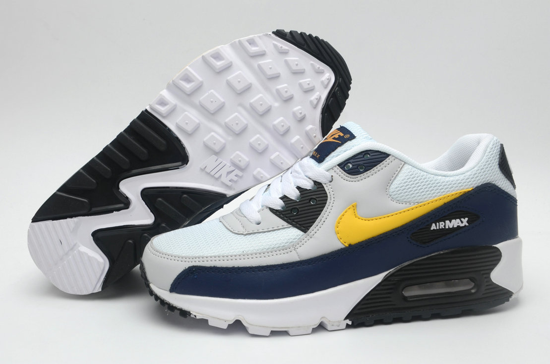 Where To Buy Womens Nike Air Maxs 90 Navy Blue White Yellow Black