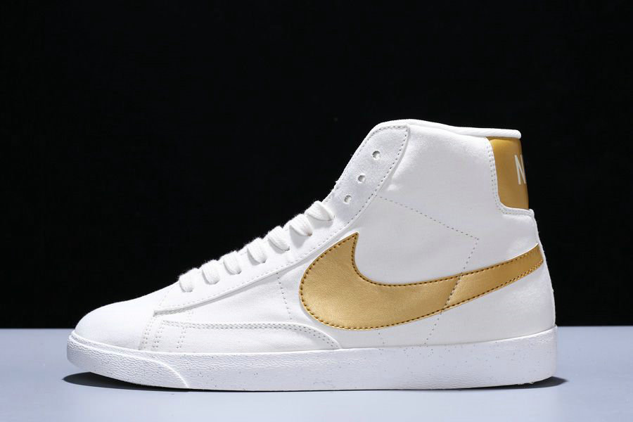 Where To Buy Womens Nike Blazer Mid PRM VNTG Ivory White Tuhao Gold CD8233-103