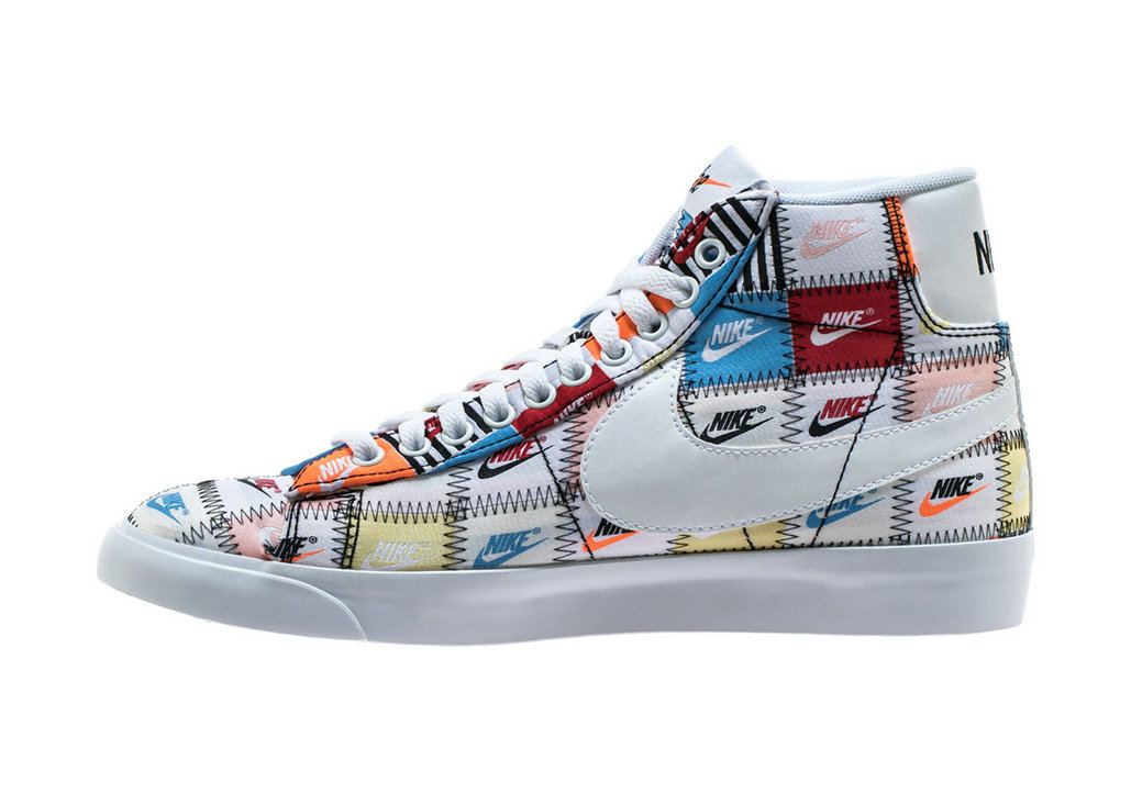 Where To Buy Womens Nike Blazer Mid White Multi Color Black Blanc Couleur Multiple CI9887-100