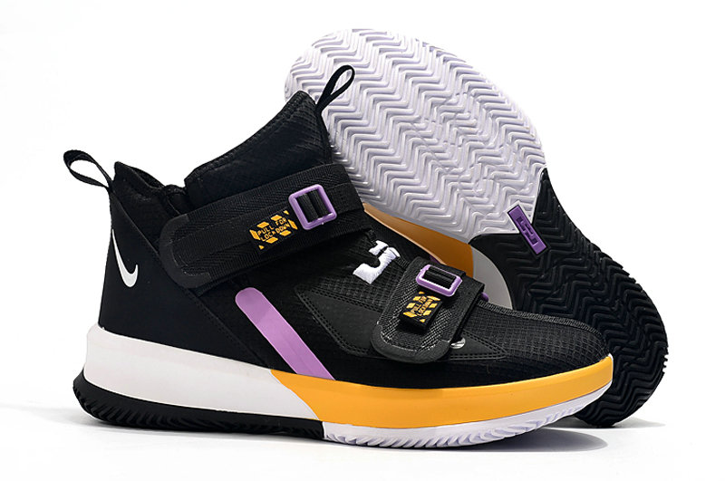 Where To Buy Womens Nike Lebrons Soldier 13 Yellow Black White Light Purple