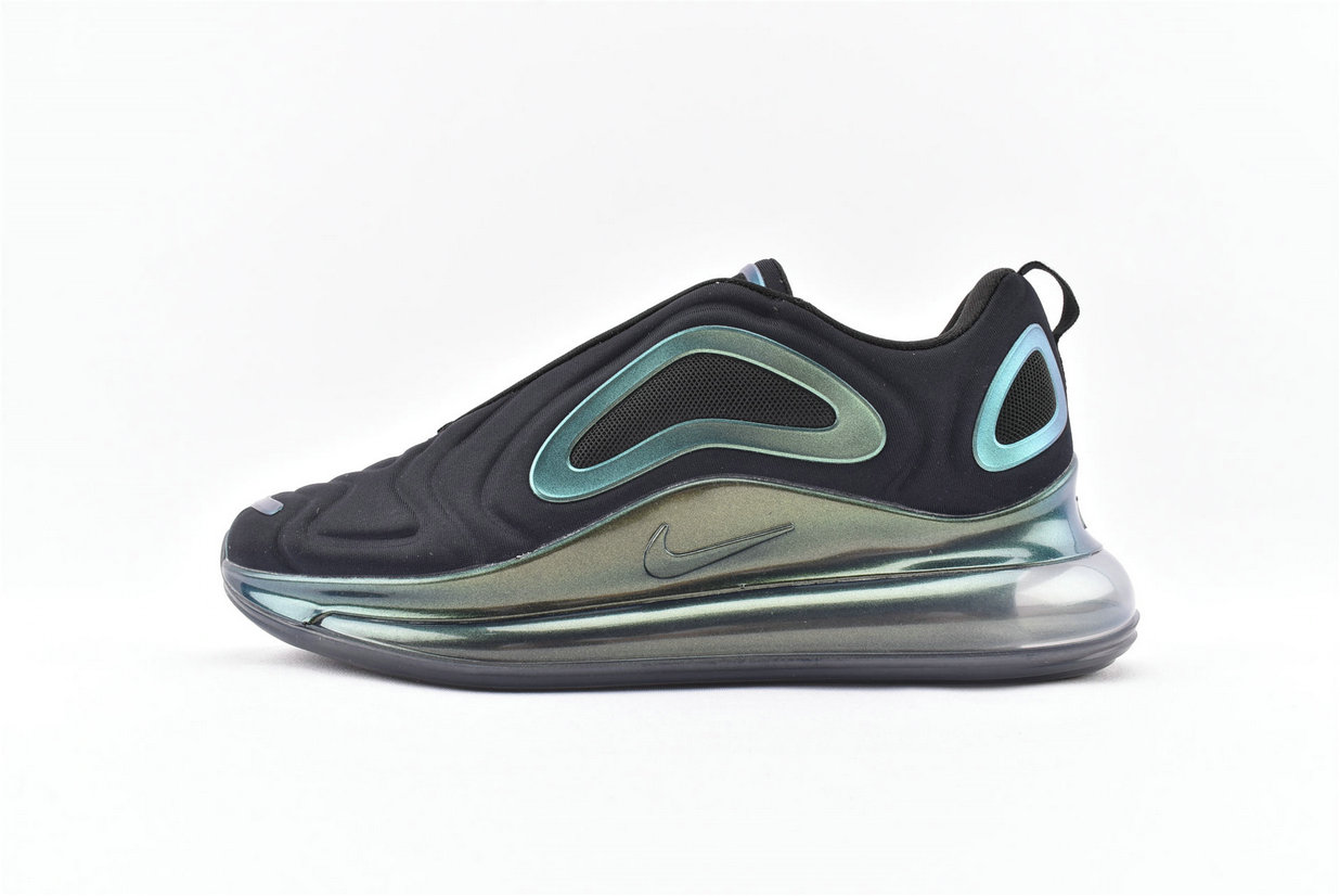 Where To Buy Womens Nike Sportwear Air Max 720 Throwback Future Black Blue Green Metallic Silver AO2924-010