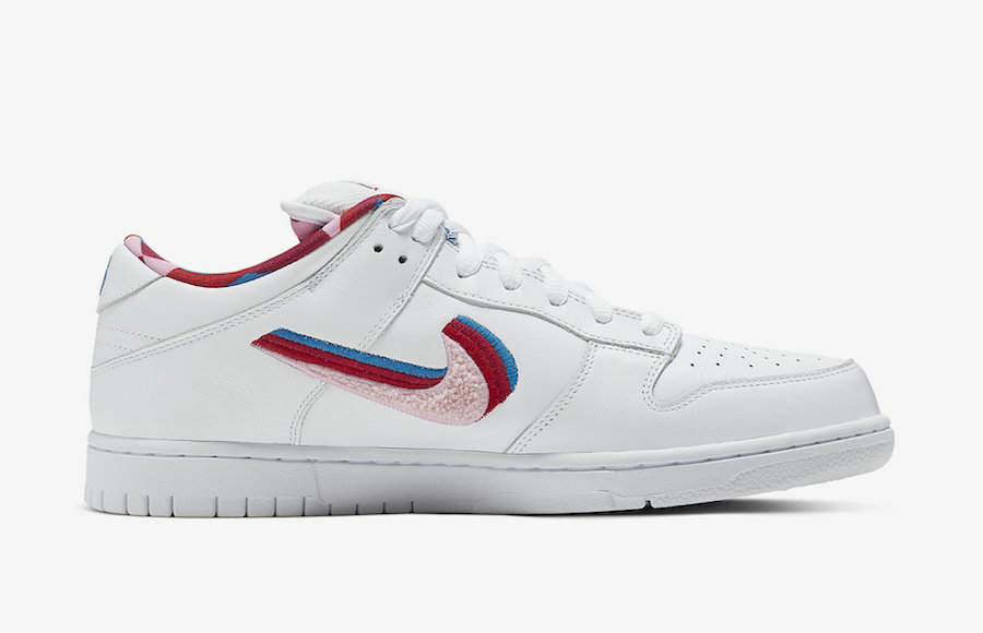 Where To Buy Womens Parra x Nike SB Dunk Low Friends And Family Midnight Turquoise Pink Rose CN4504-300