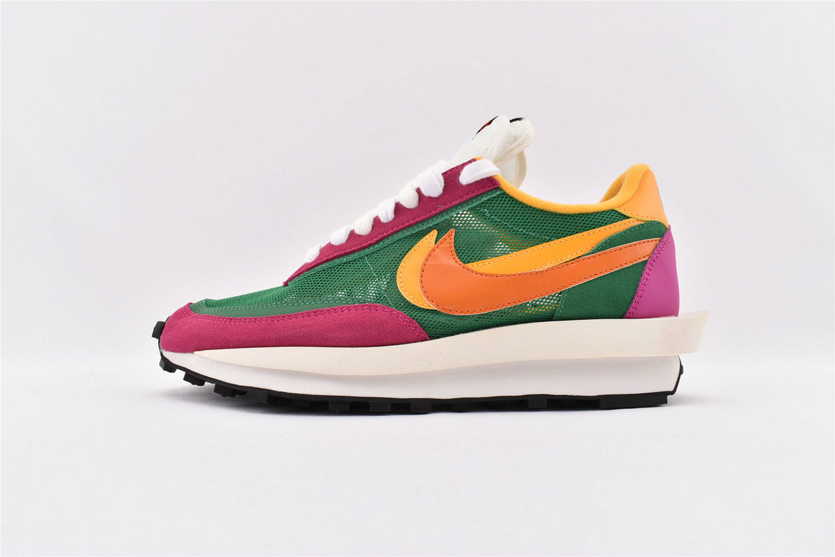 Where To Buy Womens Sacai x Nike LDV Waffle Daybreak Green Pink Yellow BV0073-301