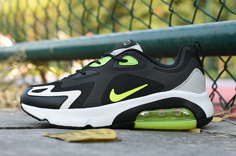 Where To Buy Womens Womens 2020 Wholesale Cheap Nike Air Max 200 Fluorescent Green Black White