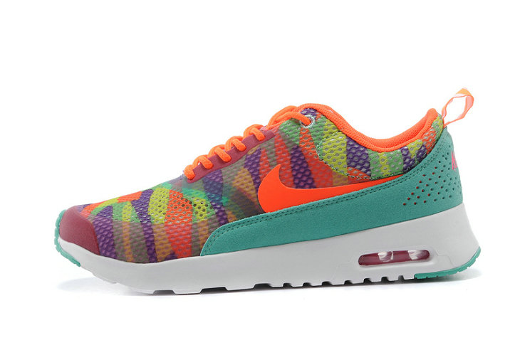 Women Air Max Thea Orange Red Water Green