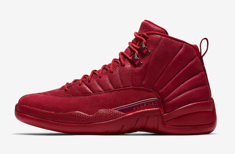 Wholesale Womens 2019 Cheap Nike Air Jordan 12 Bulls Gym Red 130690-601 Gym Red-Black