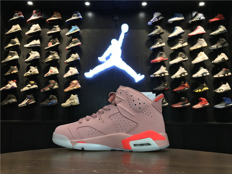Wholesale Womens 2019 Cheap Nike Air Jordan 6 Millennial Pink 384664-031
