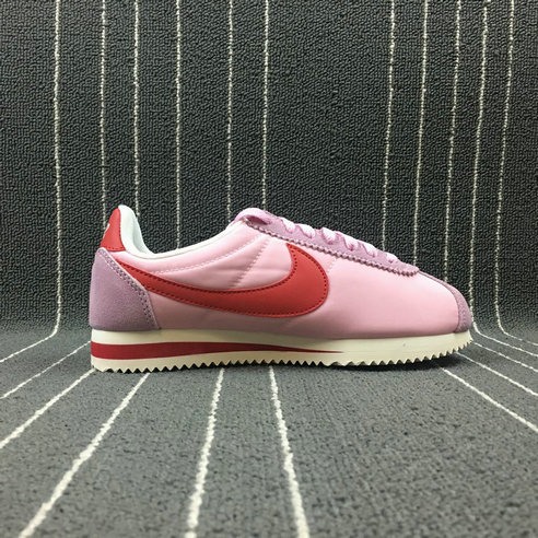 Wholesale Cheap Womens 2019 Cheap Nike Classic Cortez Nylon Premium Perfect Pink Sport Red 882258-601 Rose
