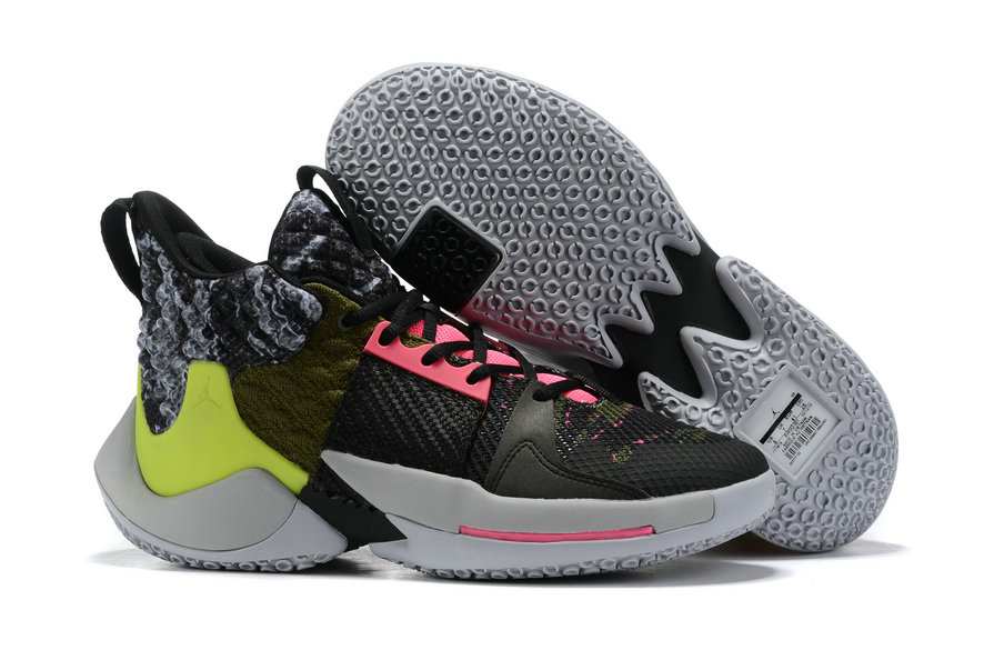 Wholesale Cheap Womens 2019 Cheap Nike Jordan Why Not Zer0.2 Green Grey Black Pink White
