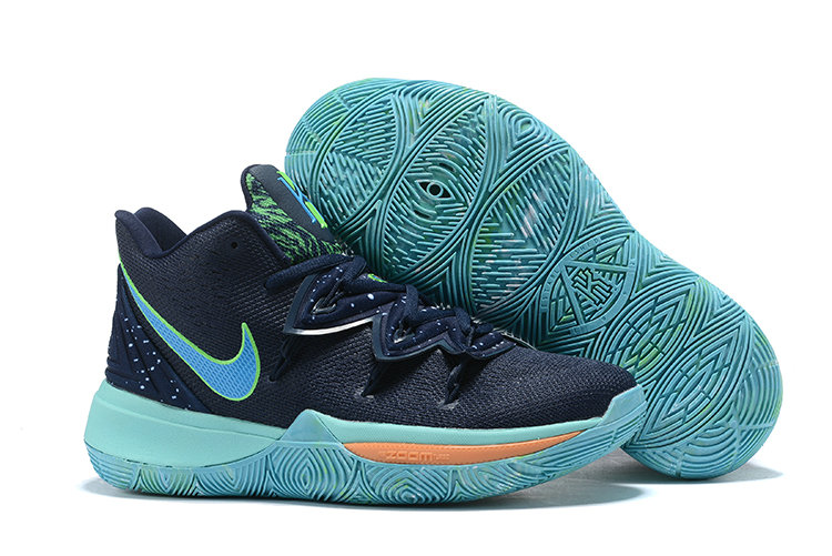 Wholesale Cheap Womens 2019 Cheap Nike Kyrie 5 UFO Obsidian Light Current Blue AO2919-400