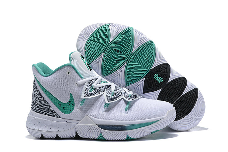 Wholesale Cheap Womens 2019 Cheap Nike Kyrie 5 Unveiled PE White Mint Green-Black