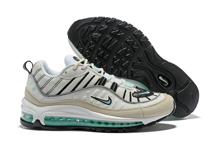 Wholesale Womens Air Max 98 2018 New Arrival Black Beige Green